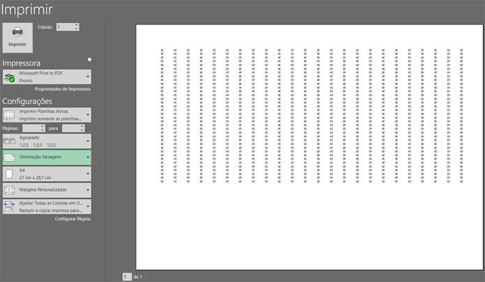 Sempre utilize a visualização de impressão para controlar o resultado das suas modificações (Foto: Reprodução/Filipe Garrett)