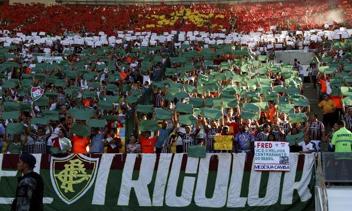 Torcida Fluminense x Vasco (Foto: Marcelo de Jesus / GloboEsporte.com)