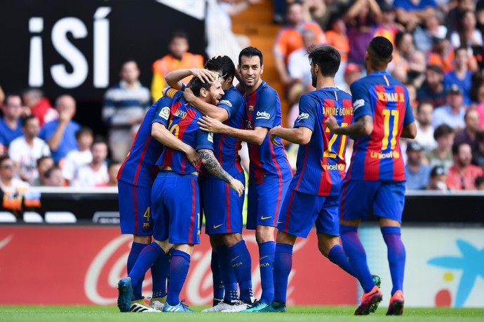 Messi gol Barcelona Valencia (Foto: Getty Images)