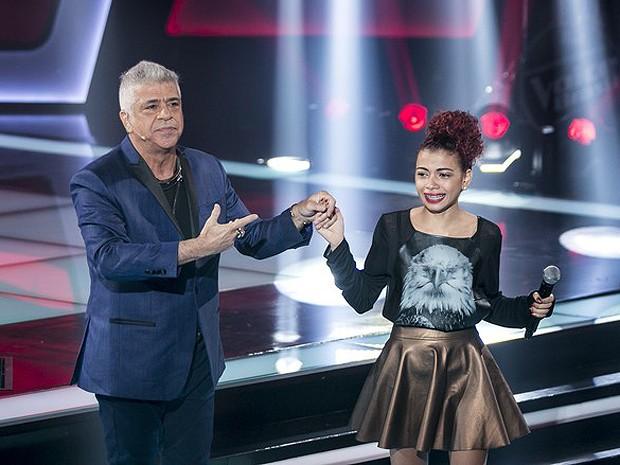Lulu Santos e Tori Huang no palco do The Voice Brasil (Foto: Isabella Pinheiro / Gshow)
