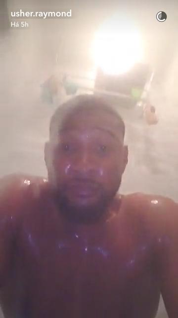 Usher (Foto: Reprodução/Snapchat)