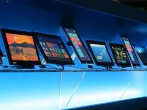 Tablets com processador Intel foram apresentados na CES 2013 (Foto: Daniela Braun/G1)