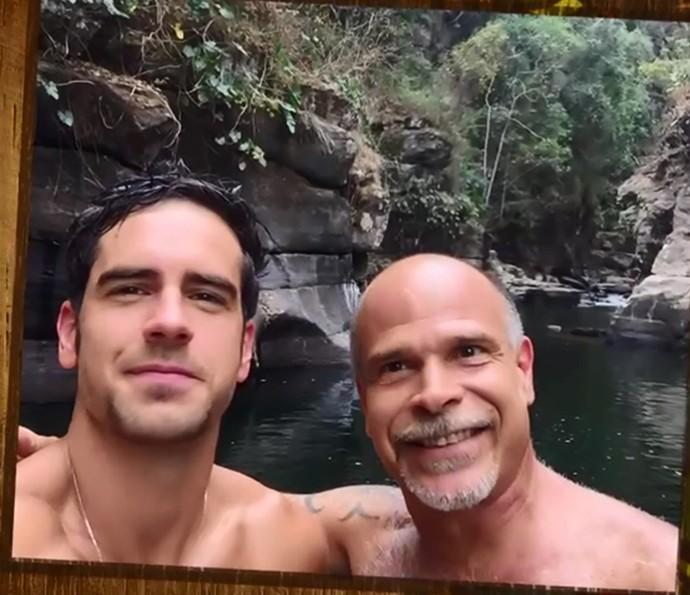 Marcos Pitombo se emociona ao falar do pai, Marcos Pitombo,  (Foto: TV Globo)