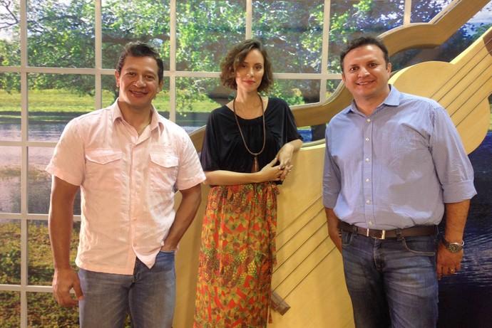 Agnel Velozo, Lorena Ly e Fabrício Carvalho são os jurados do Novos Talentos É Bem MT (Foto: Luana Daubian)