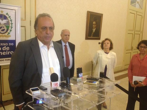 Pezão se reuniu com ministra do STJ e presidente do TJ-RJ (Foto: Marcelo Elizardo/ G1)