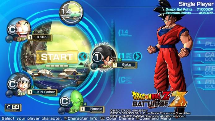Pressione Triângulo (PS3/Vita) ou Y (X360) para personalizar seu lutador nessa tela (Foto: Reprodução)