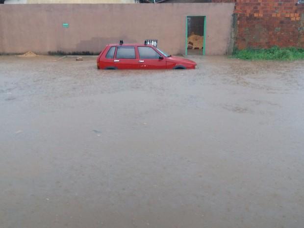 Chuva Palmas 18/01 (Foto: Valquiria Stela/Arquivo Pessoal)