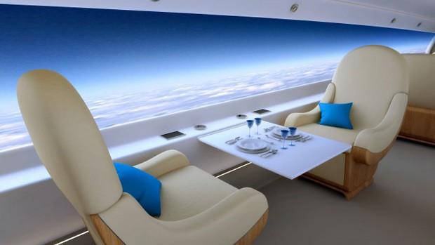 Empresa americana quer construir avião supersônico sem janelas e com super telas