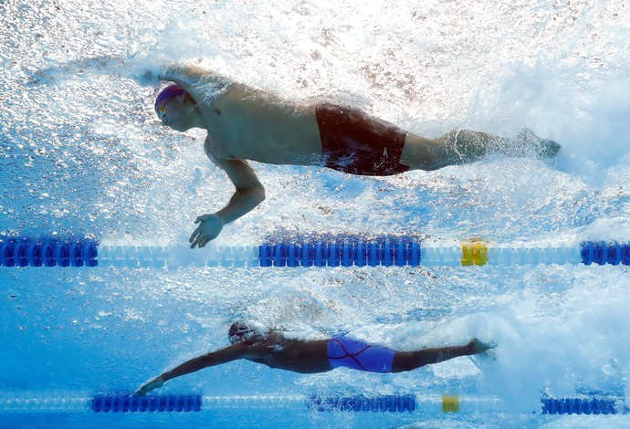 Dressel no trials de natação dos Estados Unidos (Foto: Tom Pennington/Getty Images)