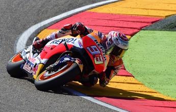 Marc Márquez ignora luxação no ombro e crava a pole no GP de Aragão