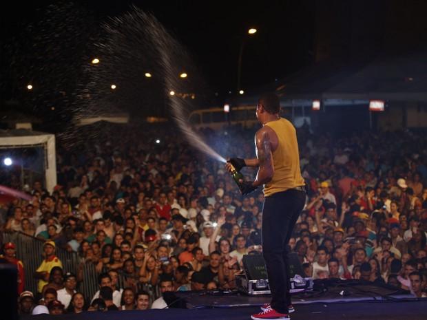 Naldo em show em Uberlândia, Minas Gerias (Foto: Fred Pontes/ Divulgação)