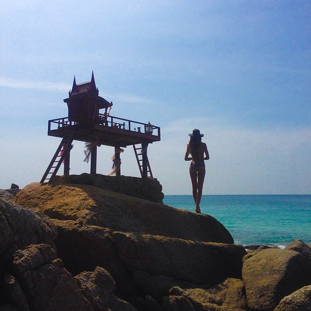Izabel Goulart na Tailândia (Foto: Instagram/ Reprodução)