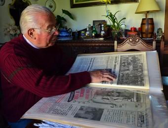 Historiador Edmundo Rocha - Campos do Jordão - Seleção Brasileira 1962 (Foto: Danilo Sardinha/GloboEsporte.com)