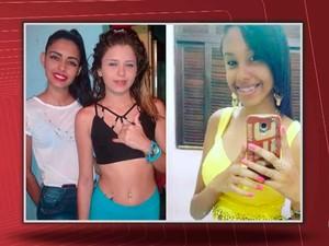 Adolescentes assassinadas em Camaçari, na região metropolitana de Salvador (Foto: Imagem/TV Bahia)