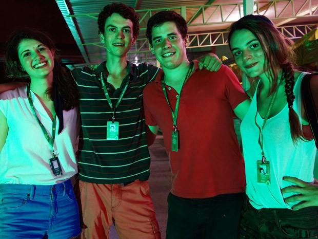 Amigos da França (Foto: Egi Santana / G1)