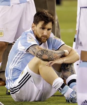 Messi Argentina x Chile (Foto: AP)