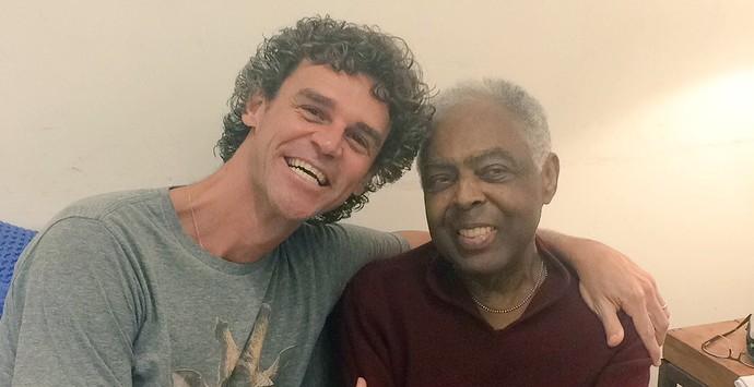 Guga e Gilberto Gil Cerimônia de abertura da Olimpíada no Maracanã (Foto: Twitter)