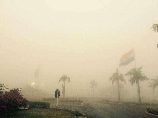 Ponta Porã no início da manhã desta sexta-feira (Foto: Martim Andrada/ TV Morena)