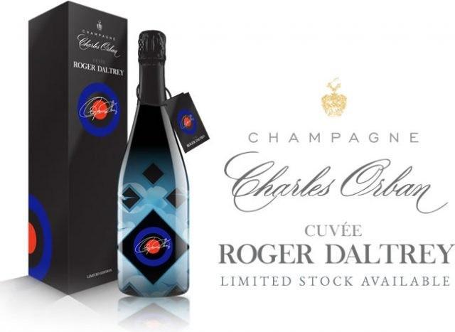 O champanhe de Roger Daltrey e seu rótulo incrível. (Foto: Divulgação)