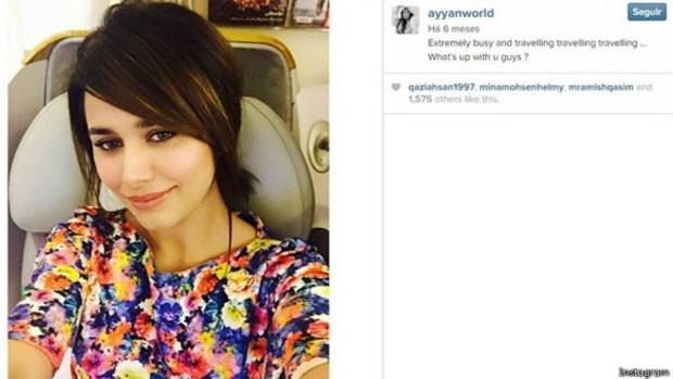 Reprodução da conta de Ayyan no Instagram: ela é maior top model paquistanesa  (Foto: BBC)
