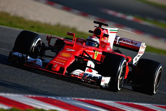 Kimi Raikkonen guia SF70H pré-temporada F1 (Foto: Getty Images)