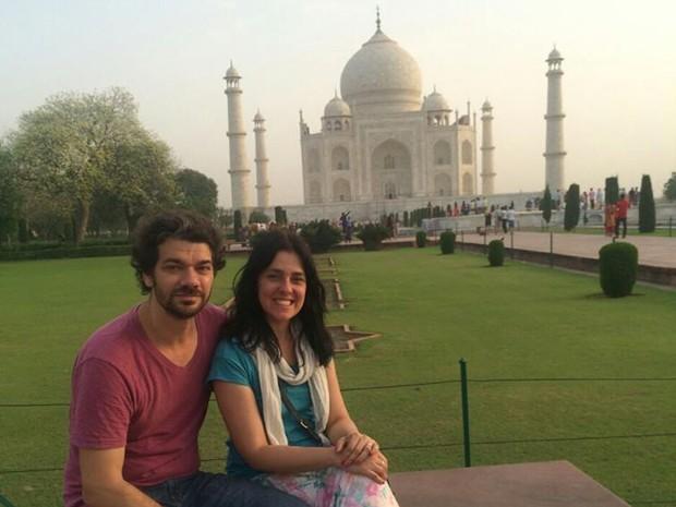 Casal estava de férias na Índia antes de presenciar terremoto no Nepal (Foto: Arquivo pessoal)