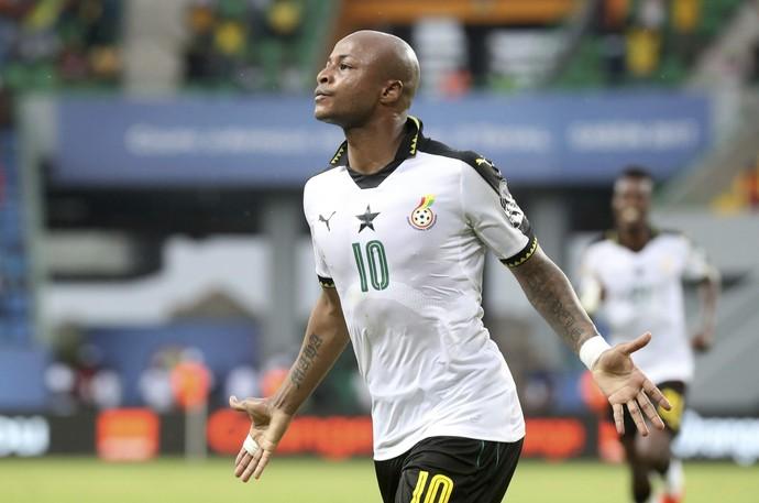 André Ayew, Gana x Uganda (Foto: EFE/Chris Ricco)