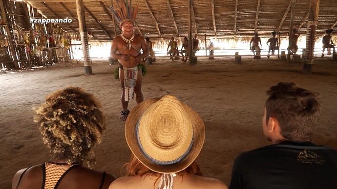 Equipe do 'Zapp' acompanha ritual indígena no Amazonas (Foto: Rede Amazônica)