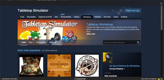 Steam Workshop tem extras com os jogos completos (Foto: Reprodução/Felipe Vinha)