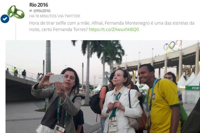 Fernanda Montenegro é uma das estrelas presentes na festa  (Foto: Reprodução / Twitter)