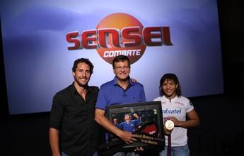 """""""Sensei"""" promete emoção no sábado com Sérgio Maurício e Sarah Menezes"""