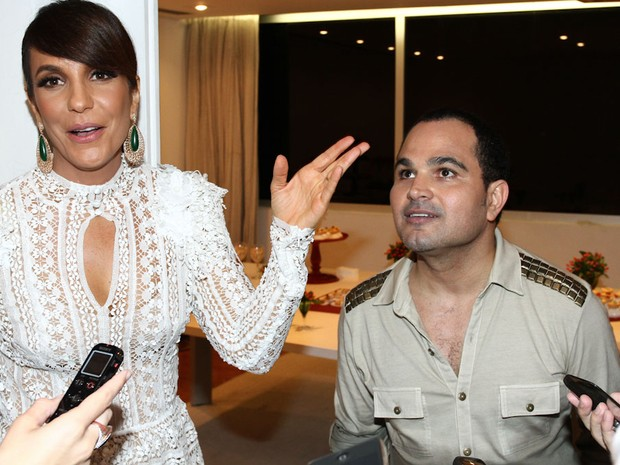 Ivete Sangalo e Luciano na gravação do show da Virada 2013 em São Paulo (Foto: Cláudio Augusto/ Foto Rio News)