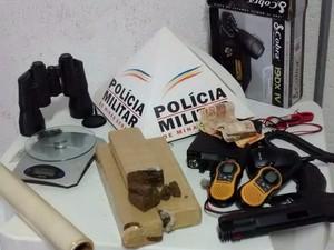 Tráfico de drogas Tupaciguara e Uberlândia (Foto: Polícia Militar/ Divulgação)