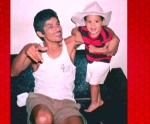 Lucas Araújo e o pai (Foto: TV Globo)