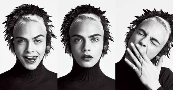 Cara Delevingne  (Foto: Fotos Patrick Demarchelier / Edição de moda Jillian Davison)