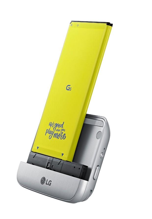 Acessório do smartphone G5, da LG, o CAM Plus amplia a capacidade de o aparelho registrar fotos. (Foto: Divulgação/LG)