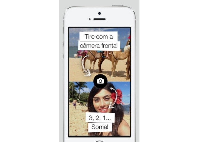FrontBack permite tirar fotos com a câmera traseira e frontal ao mesmo tempo (Foto:Divulgação)