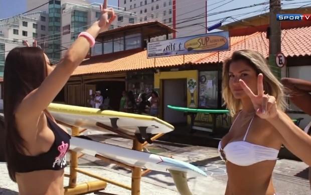 Bailarinas do Faustão Zona de Impacto (Foto: Reprodução / SporTV)