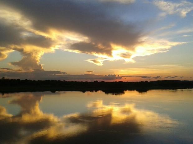 Rio Paraguai em Cáceres, Mato Grosso (Foto: Anecy de Pinho/Politec-MT)