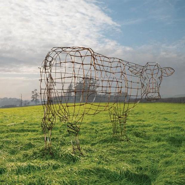 The Wire Cow, obra de arte feita para o aniversário de 40 anos doAtom Heart Mother, 2009 (Foto: © Pink Floyd Music Ltd)