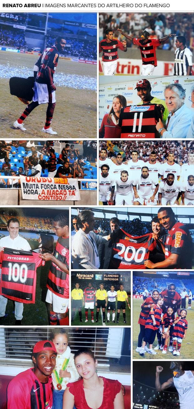 MOSAICO - Renato abreu flamengo imagens quadros retratos (Foto: André Durão / Globoesporte.com)