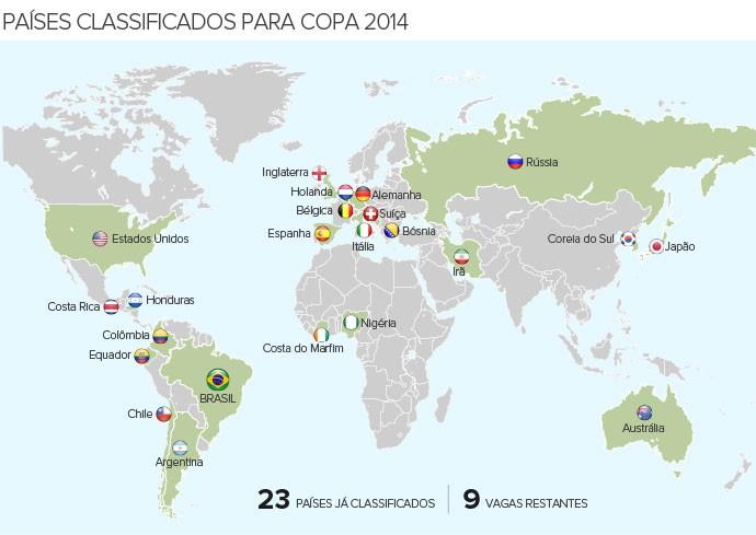 Info_PAISES-CLASSIFICADOS_Copa-2014_4 (Foto: Infoesporte)