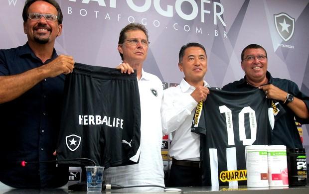 Anúncio de patrocinador do Botafogo (Foto: Thales Soares)