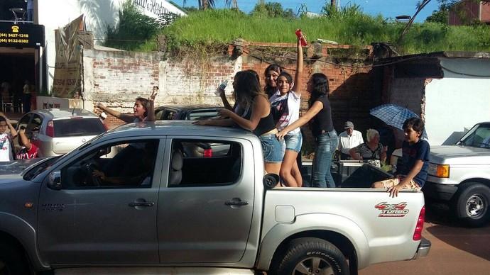 A galera de Porto Rico fez a maior festa para o Wagner Barreto  (Foto: Arquivo pessoal)