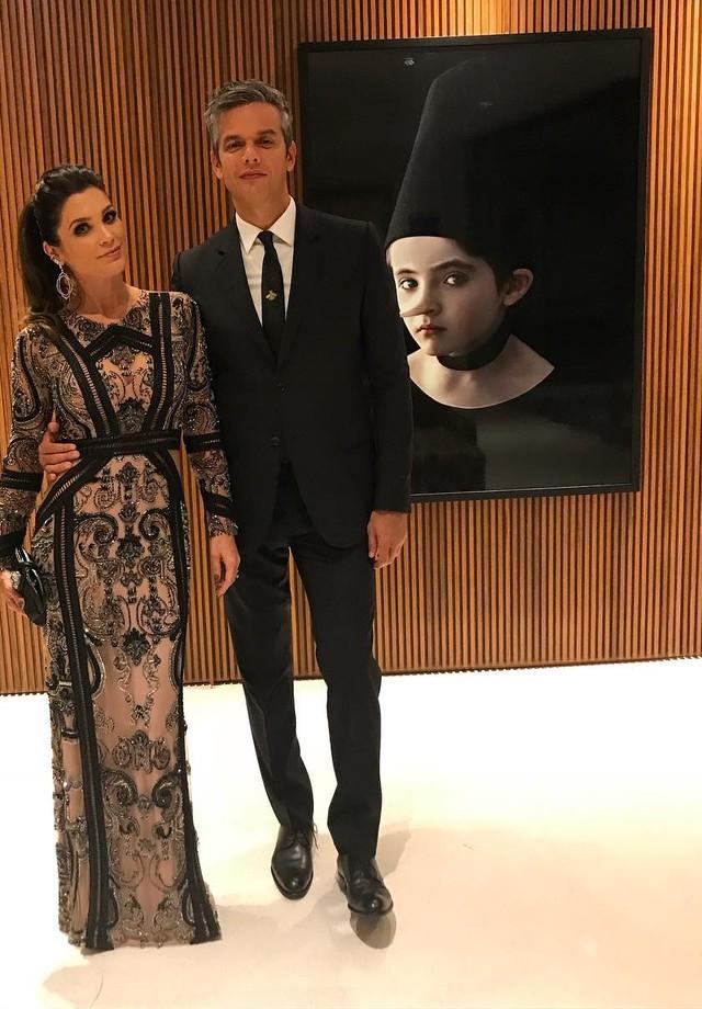 Flavia Alessandra veste PatBo, ao lado de Otaviano Costa (Foto: Reprodução/ Instagram)