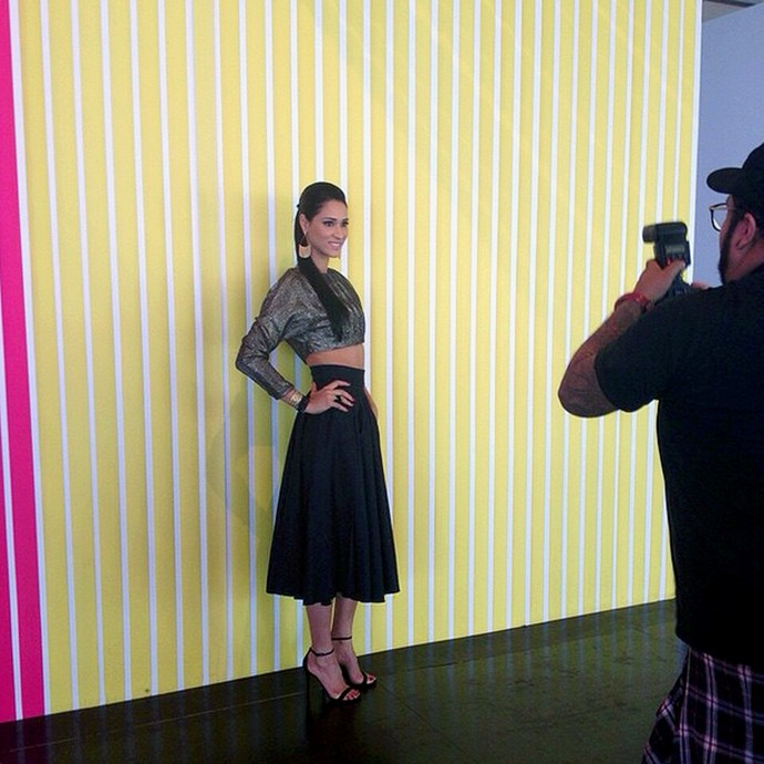 Jaqueline vôlei - São Paulo Fashion Week (Foto: Reprodução / Instagram)