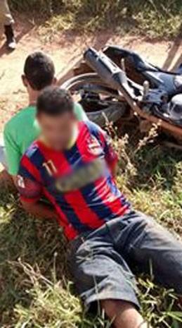 perseguição oliveira assalto lotérica (Foto: Polícia Militar/ Divulgação)