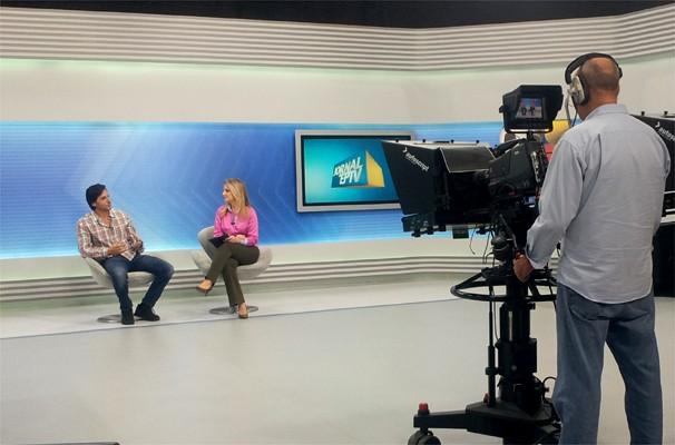 Ator fala sobre seu personagem em entrevista ao Jornal da EPTV 1ª Edição (Foto: Priscila Nascimento)
