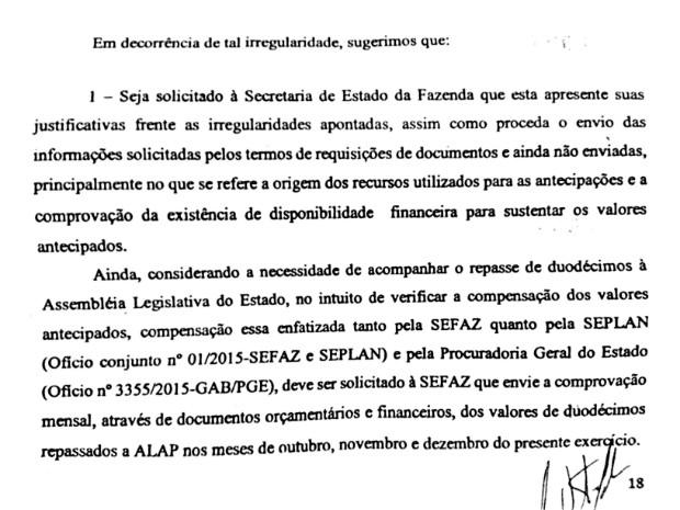 TCE pediu mais informações ao governo do Amapá (Foto: Reprodução)
