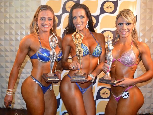 Carla Prata ganha competição de fisiculturismo no Rio (Foto: Rodrigo Mesquita/ Divulgação)